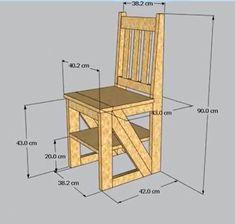 Como hacer una silla que se transforma en una escalera. Folding Ladder, Folding Chair, Outdoor Chairs, Outdoor Furniture, Outdoor Decor, Round Wooden Dining Table, Desk Tray, Camping Table, Diy Electronics