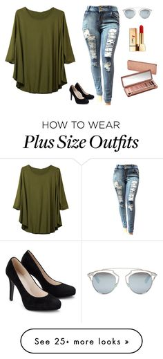 """""""Plus size ♥"""" by marttasartorius on Polyvore featuring Christian Dior, Yves Saint Laurent and Urban Decay"""