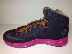 Nike LeBron X   Denim   Pink