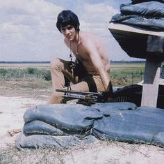 Rick Springfield,  In Vietnam, tour playing for US troops 68-69.