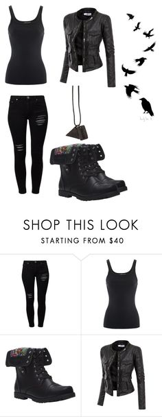 """""""Divergent Dauntless"""" by emocutie2222 ❤ liked on Polyvore featuring Gestuz, Ralph Lauren, Wet Seal, Doublju and Black Scale"""