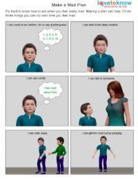 Make a mad plan Autism worksheet