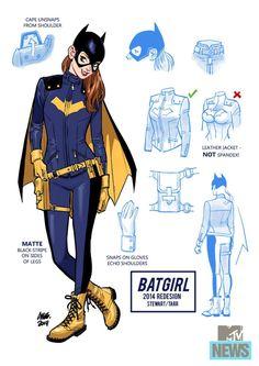 Bat girl's more realistic crime fighting costume.