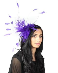Purple Fascinator Hat for Kentucky Derby by Hatsbycressida on Etsy, $100.00