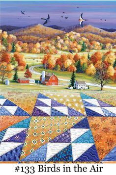 Rebecca Barker's Quiltscapes - quilt pictures She sells cards, prints and originals