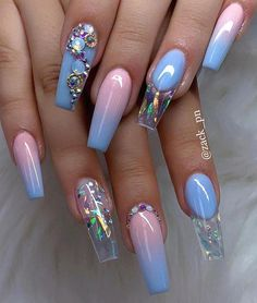 40 Fabulous Nail Designs That Are Totally in Season Right Now - pretty nail art designs,mix and match nail art design, acrylic nail art, nail designs with glitter #nail #nailart #acrylic #AcrylicNailsStiletto