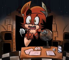 Five Nights at Freddy's/ someone said booty?! -foxy :3 ^^^^ Foxy's new way of saying hi! He learned it from a masked man that came by the other day :)