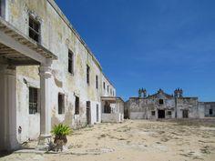 The garrison church of the 16th century Fortaleza de São Sebastião on Mozambique Island faces the castle's parade ground.