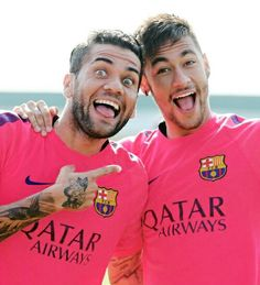 Dani Alves and Neymar Jr (: