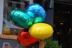 Rainbow Mylar Balloons