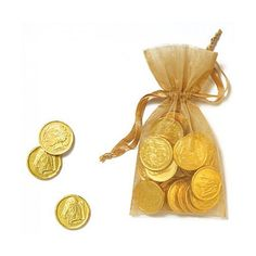 Percy Jackson party - golden chocolate as drachma!