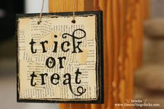 trickortreat-wall-hanging - LOVE the torn paper, but could I massacre a book?