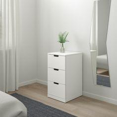 NORDLI white, Chest of 3 drawers, 40x76 cm - IKEA 3 Drawer Chest, Drawer Unit, Chest Of Drawers, Alex Drawer, Dresser Storage, Bedroom Storage, Ikea Nordli, Painted Drawers, Ikea Family