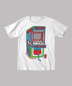 White 'Awesome Arcade' Tee - Infant, Toddler & Kids #zulily #zulilyfinds