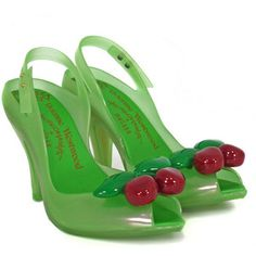 Lady Dragon Cherries Green Shoes