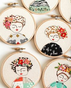 Happy New Year everyone! I wish all a wonderful 2017 year. #stitches #hoopart #embroidery #needlepoint #elenacaron #art #ladies #illustrations