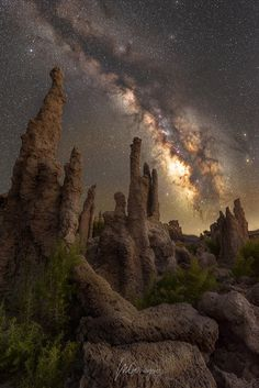 The Guardians - These tufa formations compliment our galaxy pretty darn well if you ask me.  The sky consists of 6 exposures shot on a sky tracker for 70 seconds @ f/4 ISO1250. I was using a canon 2.8 zoom but stopped down to reduce coma. Foreground is a single exposure shot at f/8 for 15 secs ISO100 shot at twilight (the beauty of that sweet sweet hyper focal point).