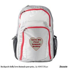 Your Custom Nike Performance Backpack, Wolf Grey/Gym Red http://www.zazzle.com/mmcckays*