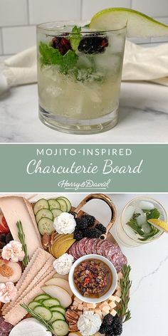 Impress your friends with this refreshing mojito-inspired charcuterie board. Harry And David, Easy Entertaining, Charcuterie Board, Mojito, House Party, Wines, Make It Yourself, Fruit, Inspired