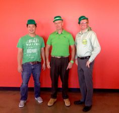 Hien, Stuart & Richard decked out for St. Patrick's Day!