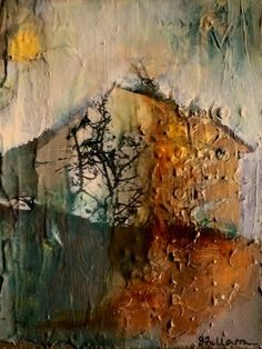 Home-Abstract by Joan Fullerton Mixed Media ~ 10 x 8