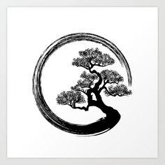 Small Japanese Tattoo, Japanese Tree, Japanese Tattoos, Body Art Tattoos, Small Tattoos, Tattoos For Guys, Circle Tattoos, Owl Tattoos, Hand Logo
