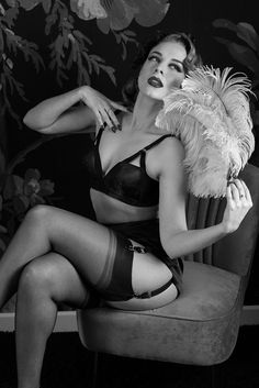 Are you looking for timeless vintage glamour? You've come to the right place. We've released our classic Cathedral Bra in Black satin just for you as part of our Retro Lingerie collection. Although this bra is currently only available in a very limited size range, we will soon be grading a wider range of sizes so that everyone can enjoy this gorgeous design! However, we couldn't resist offering a this initial range when we saw just how good it looked on Sam Elson!