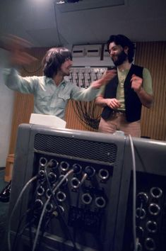 George and Paul McCartney Apple Studio Dance.