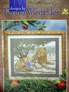 teresa wentzler cross stitch designs | Cross stitch / Peaceable Kingdom Cross Stitch Pattern Teresa Wentzler ...