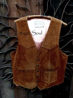 Vintage 1970's Leatherland Men's Suede Leather by HipVintageSoul