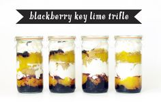 Blackberry key lime trifle in Weck jars, from www.cupandcarry.com