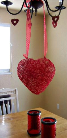 string balloon-heart -MAKE AND PUT LIGHTS IN AND HANG FROM TREES.  oNCE MADE CAN SPRAY WITH SPRAY GLUE AND ROL IN IRRIDESCENT GLITTER