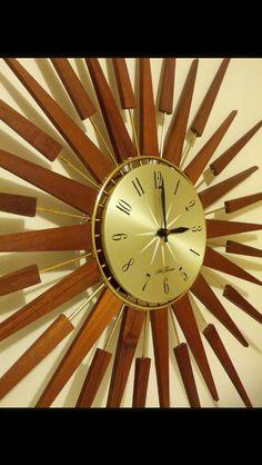 Seth Thomas starburst wall clock