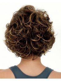 Want Lace Front Cosy Curly Synthetic Medium Wigs? Wigsis offers various mid-length haircuts wigs, top quality with latest colors & styles. Get fantastic mid-length wigs to achieve the most charming look. Curly Hair With Bangs, Curly Hair Cuts, Short Curly Hair, Short Hair Cuts, Curly Hair Styles, Thin Hair, Curly Bun, Pixie Cuts, Short Pixie