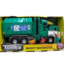Tonka Mighty Motorized Vehicle - Side-Loader Garbage & Waste Department Truck (Green)