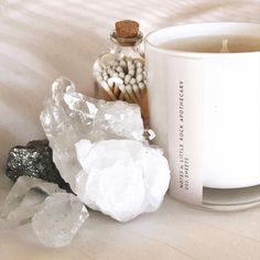 Little Rock Apothecary - Official Site Clear Quartz Crystal, Crystal Cluster, Crystal Healing, Tea Candles, Scented Candles, Crystals And Gemstones, Stones And Crystals, Massage Room Design, Crystal Bedroom