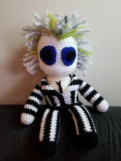 beetlejuice crochet! (no pattern) | Holiday crochet, Halloween ... | 314x236