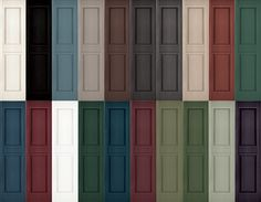 new pair raised panel exterior vinyl shutters 31 39 House Shutter Colors, Exterior Shutter Colors, Exterior Vinyl Shutters, Outdoor Shutters, Red Shutters, House Shutters, House Paint Exterior, Exterior Paint Colors, Paint Colors For Home