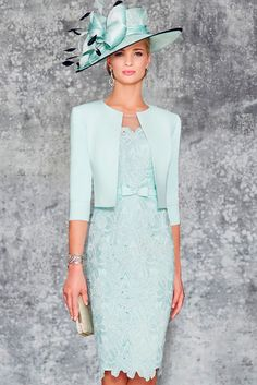 Ronald Joyce 991102 02 stunning fitted dress matching jacket sits edge to edge with a rounded collar and length sleeves in Aqua and Pale Blue. Mother Of Bride Outfits, Mother Of Groom Dresses, Bride Groom Dress, Mothers Dresses, Mother Of The Bride, Mob Dresses, Bridesmaid Dresses, Bride Dresses, Elegant Dresses
