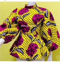 African Fashion Ankara, Latest African Fashion Dresses, African Dresses For Women, African Print Dresses, African Print Fashion, Africa Fashion, African Attire, African Blouses, African Tops