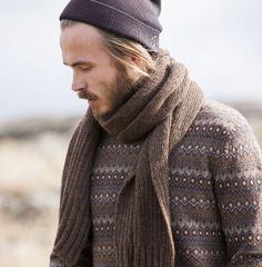 Finnish magazine Moda: Shawl for men made of Teetee yarns. Design: Piia Maria Pekkanen