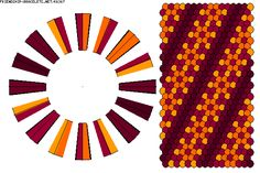 K6367 - friendship-bracelets.net.              Strings 32.   Colours 5
