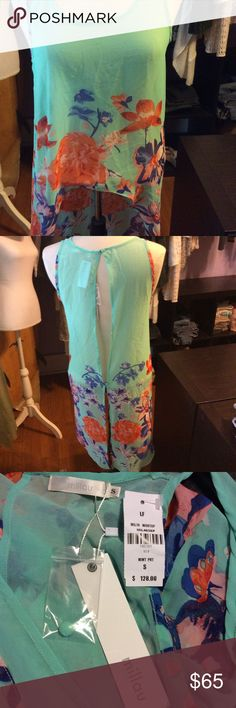 Flower Millau High Low Top Pretty! NWT. Sold at LF Millau Tops Blouses