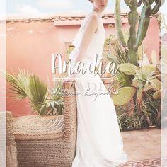 Anadia - Robe de mariée Hélène Lajoinie chez L'Amour en Soie à Lyon Lyon, White Dress, Dresses, Fashion, Silk, Love, Vestidos, Moda, Fashion Styles