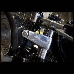 Headlight Brackets Ears For Cafe Racer Custom Cruiser Classic Motorcycles
