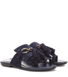 TOD'S Suede Sandals. #tods #shoes #sandals