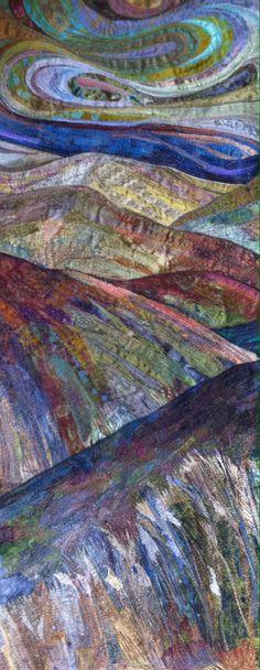 New landscape textile piece by Rachel Wright.