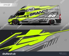 Graphic abstract stripe racing background kit designs for wrap vehicle, race car, branding car. Ducato Camper, Fiat Ducato, Car Stickers, Car Decals, Enclosed Trailer Camper Conversion, Car Lettering, Racing Car Design, Transit Custom, Cargo Van
