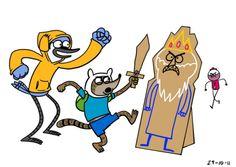Adventure Time mash-up Regular Show
