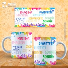Sublimation Templates Child's Day-Stencils Cups Child's Day-mug template-sublimation Mug Template, Templates, Child Day, Language, Motto, Etsy, Mugs, Photoshop, Crafts